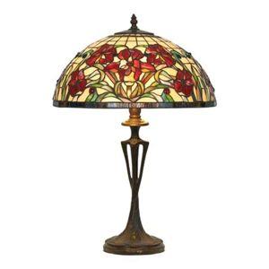 Stolná lampa Eline v štýle Tiffany
