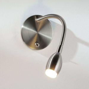 Nástenné svetlo s flex ramenom MARTA s LED, nikel