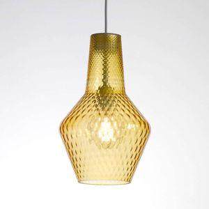 Závesná lampa Romeo 130cm, tienidlo jantár