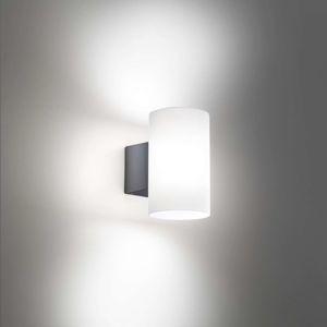 Bianca LED vonkajšie nástenné svietidlo tmavosivé