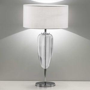 Stolná lampa Show Ogiva 82cm sklenený prvok číry