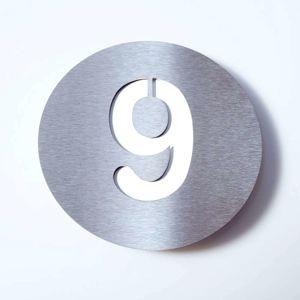 Číslo domu Round z ušľachtilej ocele – 9