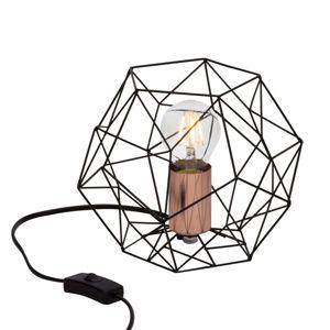 Stolná lampa Synergy s klietkovým tienidlom