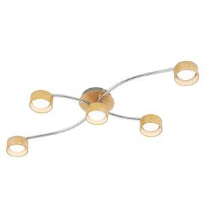 Stropné LED svietidlo Anna 5-plameňové v zlate