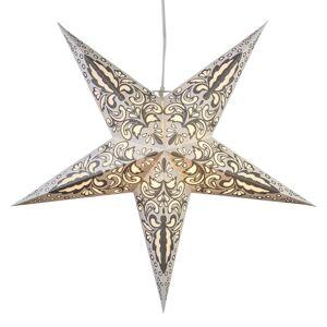 Best Season Papierová hviezda Blaze 5-cípa, vzorovaná, biela