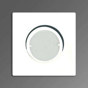 Joanie zapustené LED svetlo v bielej hranaté