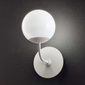 Okrúhle nástenné LED svietidlo Sfera, biele