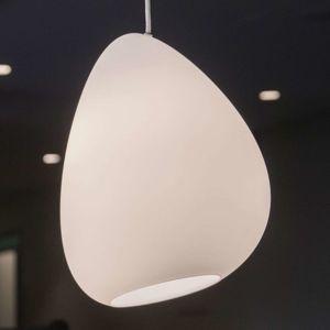 Závesná lampa Oceán tienidlo na lampu biele opál