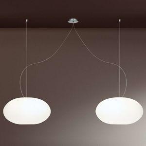 Casablanca Aih – závesná lampa 2-pl. biela matná