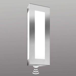 Vonkajšie nástenné svietidlo Lija oceľ so snímačom