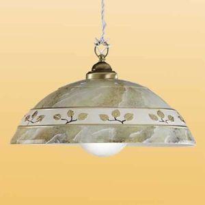 Závesná lampa FOGLIE MARMO MARRON