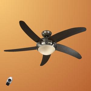 CASAFAN Moderný stropný ventilátor Elica, chrómované wenge