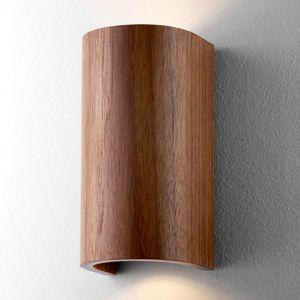 Nástenné svietidlo Tube, orech 17,5cm