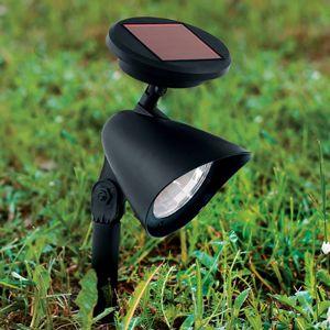 Solárne LED svetlo s hrotom do zeme Ludo čierne