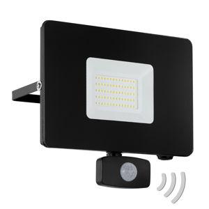 EGLO LED reflektor vonkajší Faedo 3, snímač, čierna/50W