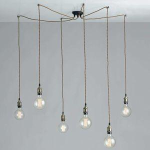 Groove – pavúkovitá závesná lampa v štýle vintage