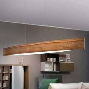 Závesné LED svietidlo Fornes tón orechového dreva