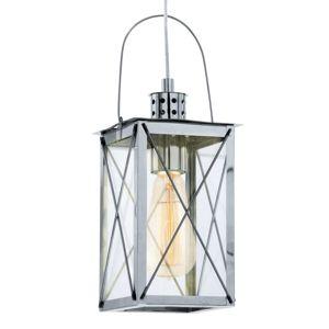 Lucernová závesná lampa Marlia chrómovaná