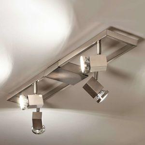 Štvor-plameňové stropné LED svietidlo Zeraco
