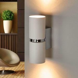 Nástenné LED svetlo Passa 2-pl. okrúhle biele