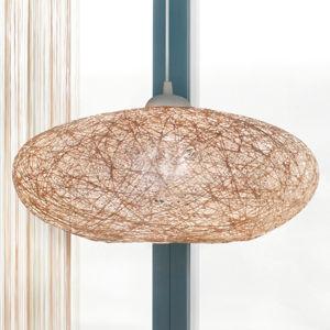 EGLO Textilná závesná lampa Campilo v béžovej