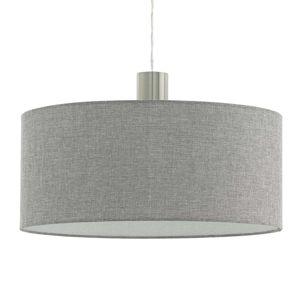 Textilná závesná lampa Concessa ľan sivá