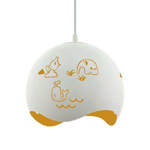 Závesná lampa Laurina perforovanie žlto-biele
