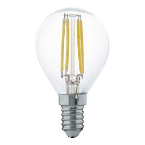 LED Filament žiarovka E14 P45 4W, teplá biela číra