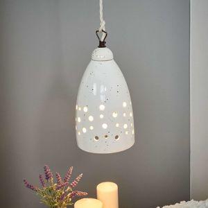 Nadol vyžarujúca závesná lampa Gisella – keramika