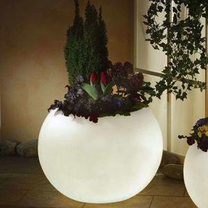 Svietiaci kvetináč, najvyššia kvalita, biela 65