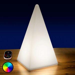 Batériou napájaná RGB LED Pyramída vonkajšia