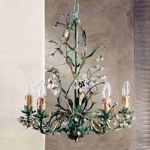 Zelený florentínsky visiaci luster Francesca