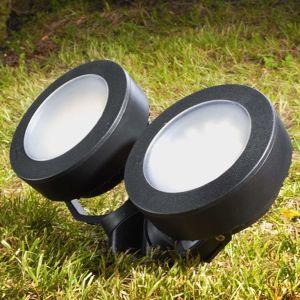 Tommy LED svetlo s hrotom okrúhle čierne 10W 2-pl