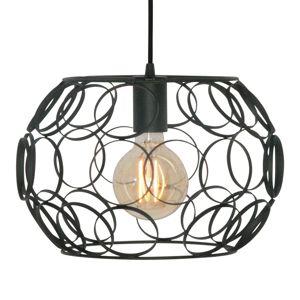 Závesná lampa Gomena, čierna, 31cm