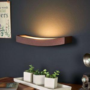Nástenné LED svietidlo Dolce hrdzavý vzhľad, 30cm