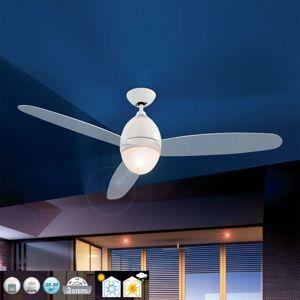 Biely stropný ventilátor Premier, 132cm