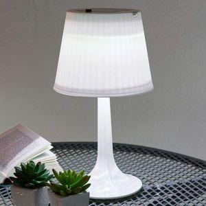 Biela solárna stolná lampa Jesse s diódami LED