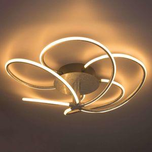 Strieborné stropné LED svietidlo Wave