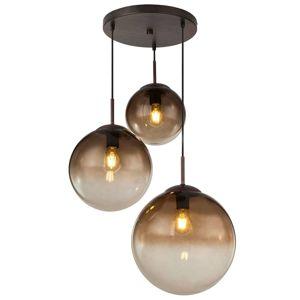 Sklenená závesná lampa Varus jantár 3-pl Ø 51 cm