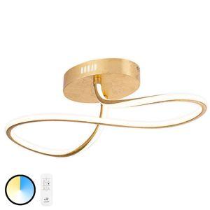 LED svietidlo 67095-60G dekór lístkové zlato 57 cm