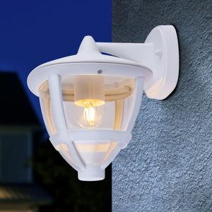 Globo Vonkajší nástenný lampáš Nollo dolný s IP44, biela