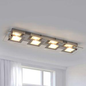 Lindby Podlhovasté stropné LED svietidlo Manja s chrómom