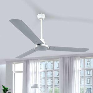Troj-lopatkový, biely stropný ventilátor Dawinja