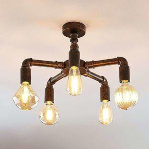 Stropné LED svietidlo Leonas priemyselný štýl 5-pl