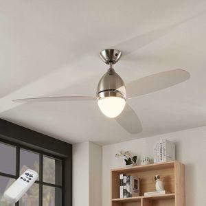 Stropný ventilátor Piara, osvetlený, číry
