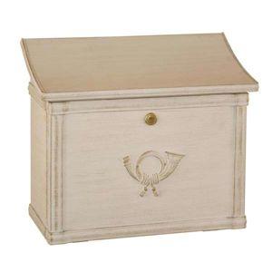 Poštová schránka MERITO biela/zlatá patinovaná