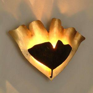 Nástenné LED svietidlo Ginkgo v zlato-hnedej