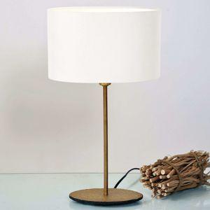Stolná lampa Mattia s oválnym tienidlom v bielej
