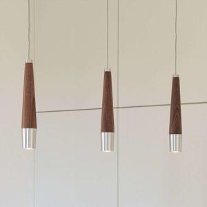 SrdceKrv Conico závesné LED svietidlo orech