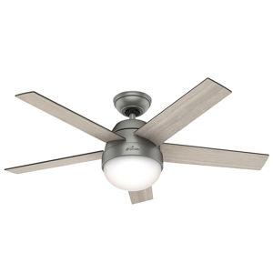 Hunter Hunter Stile ventilátor so svetlom sivá/orech